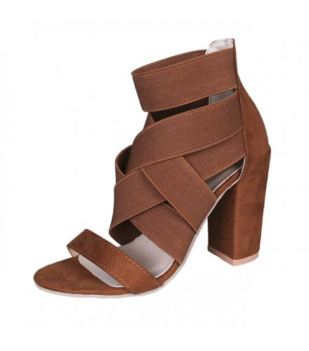 SH194 - Thick heel cross strap Shoes