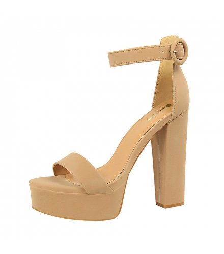 SH195 - American style thick heel Shoes