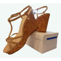 SH200 - Tan Wedge Sandals