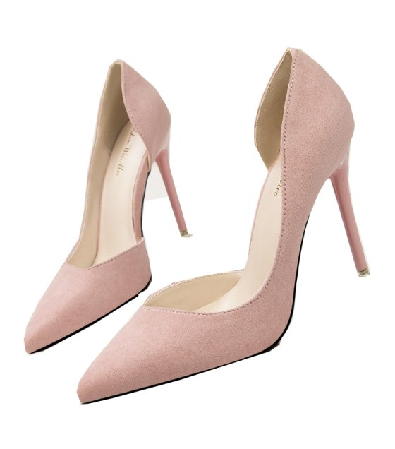 SH220 - Fashion simple stiletto high-heeled suede Shoes