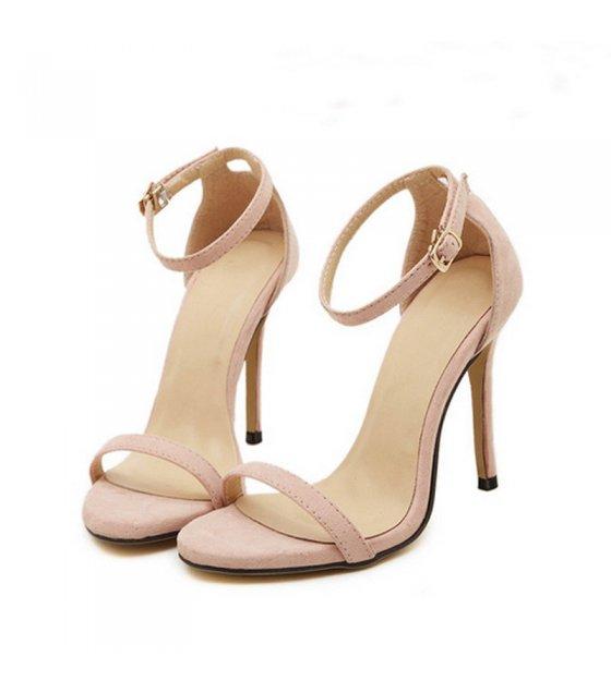 SH234 - Nude Stiletto High Heel Ankle Strap Sandals