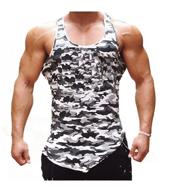 SA086 - Bodybuilding Camouflage Tank Top