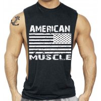 SA242 - American Muscle Bodybuilding Tank Top