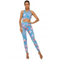 SA272 - Maple Leaf Printed Yoga Pants