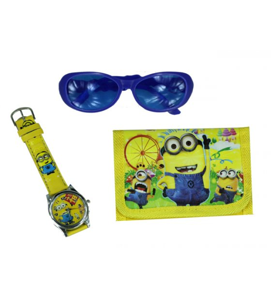 ST009 - Minion Toy Set Watch Wallet Glasses