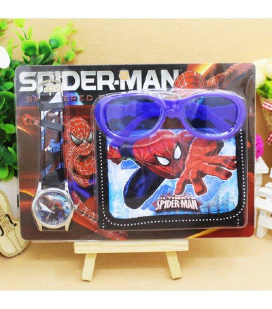 ST010 - Spider-man Toy Set Watch Wallet Glasses