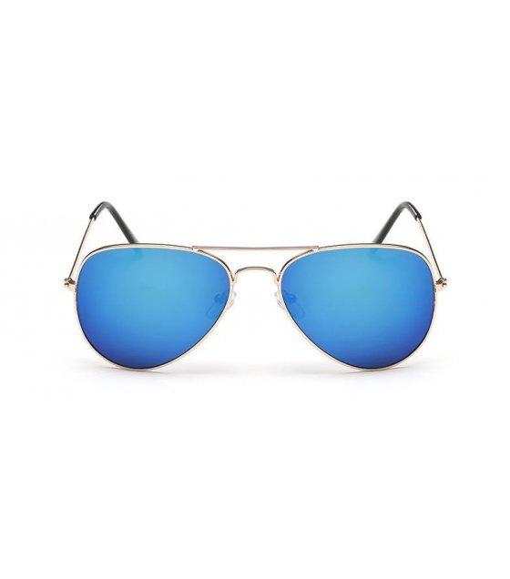 SG112 - Unisex glasses aviator Gold frame blue mercury Glasses