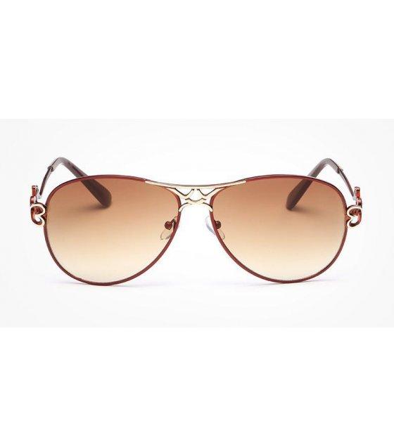 SG117 - Retro Double Coffee Frame sunglasses