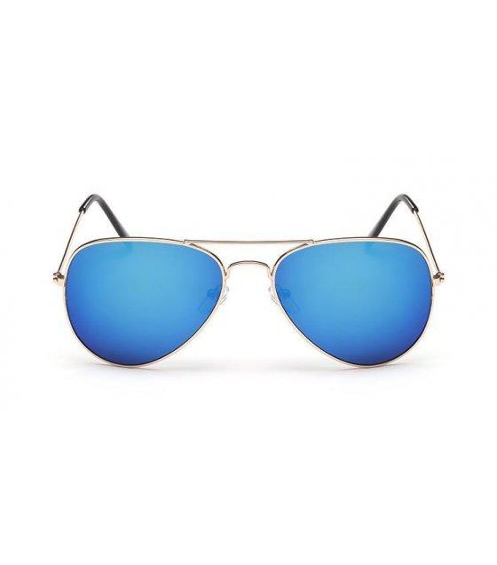 SG157 - Gold frame blue mercury Sunglasses