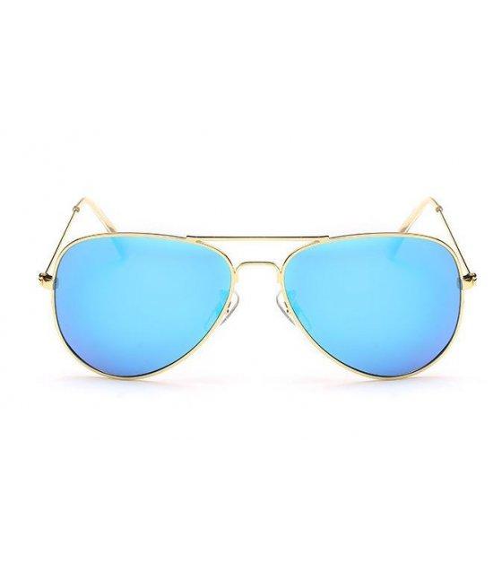 SG158 - Gold frame ice blue sheet Sunglasses
