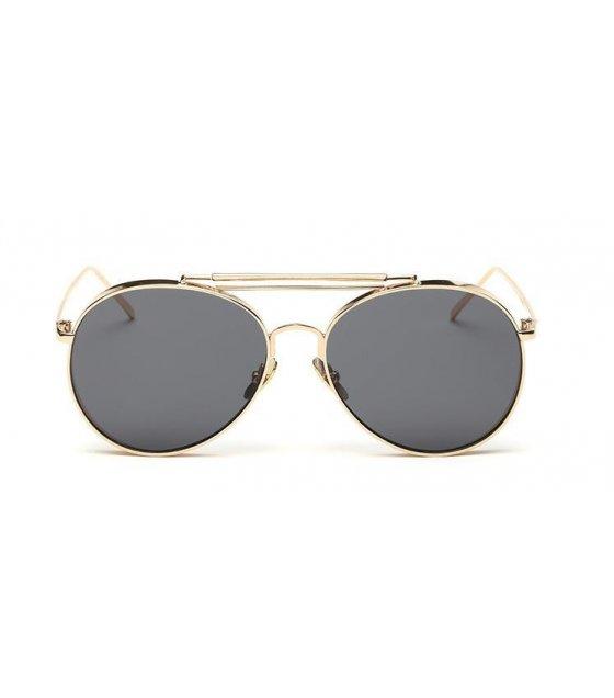 SG159 - Gold frame full gray Sunglasses