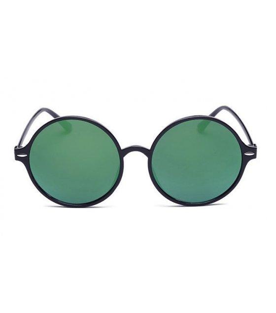 SG164 - Bright black gold mercury Sunglasses