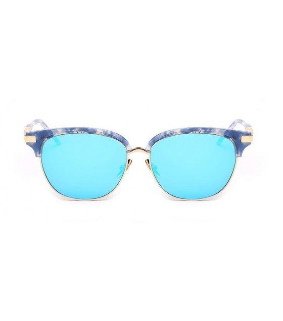 SG170 - Blue Ice Blue Floral Sunglasses