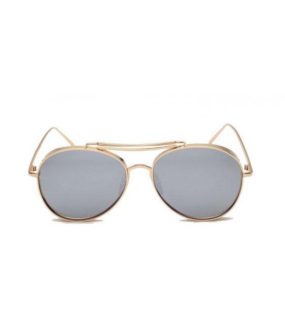SG194 - Gold frame gray sheet Sunglasses