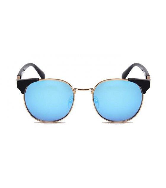 SG196 - Gold frame blue sheet Sunglasses