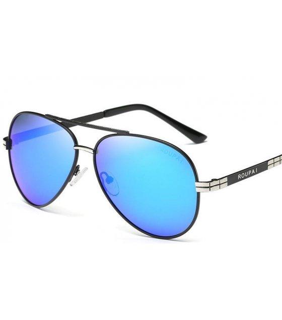 SG212 - Stylish Black Framed Blue shades