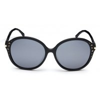 SG232 - Round Black Sunglasses