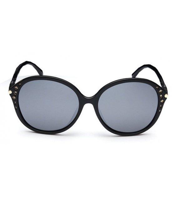 SG232 - Round Black Sunglasses