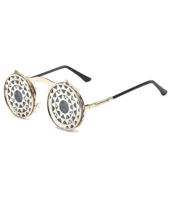 SG297 - Punk steam clamshell retro sunglasses