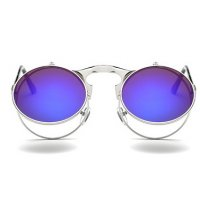 SG323 - Retro metal punk steam flip sunglasses