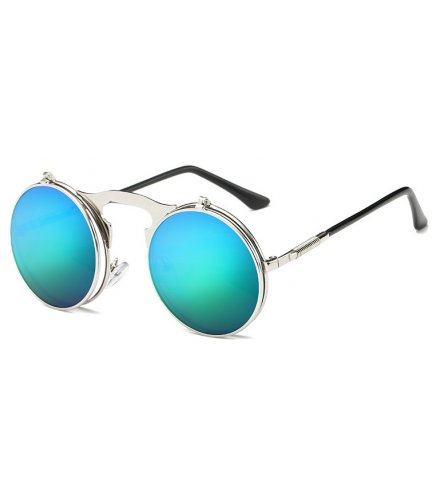 SG324 - Retro metal punk steam flip sunglasses