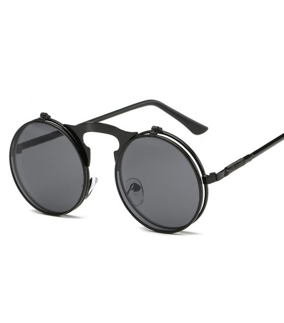 SG325 - Retro metal punk steam flip sunglasses