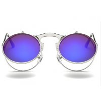 SG353 - Retro Metal Punk Steam Flip Sunglasses