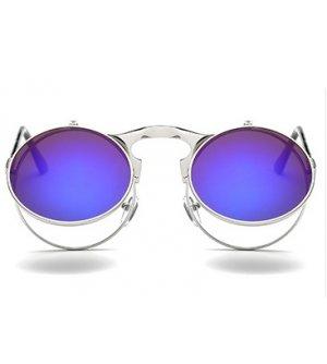 SG353 - Retro Metal Punk Steam Flip Sunglasses