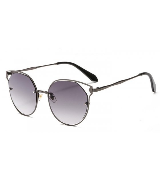 SG427 - Metal hollow cat eyes ladies sunglasses
