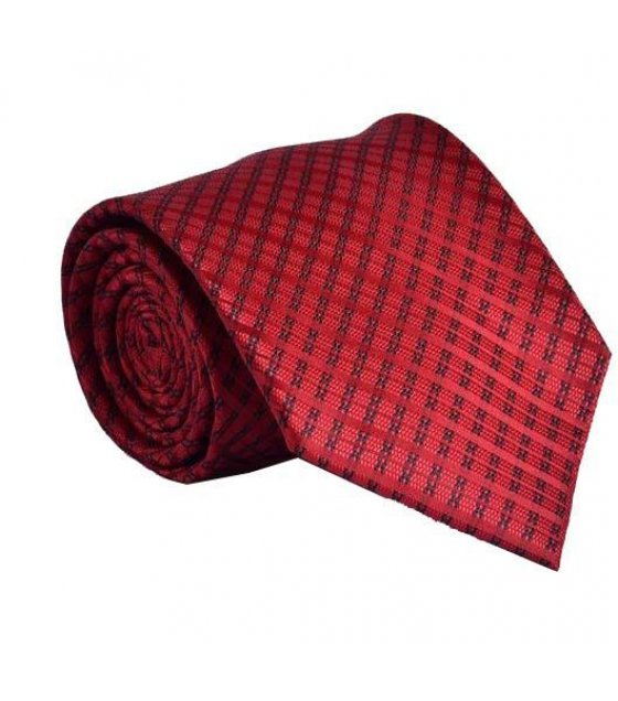 T009 - Red Dotted Tie