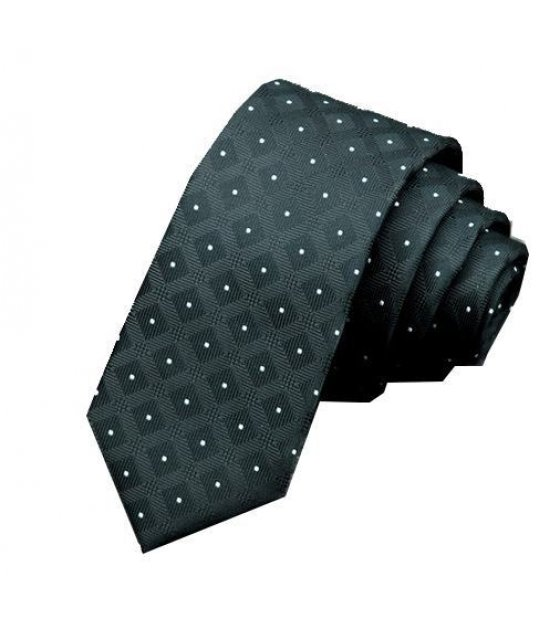 T017 - Black Dotted Tie