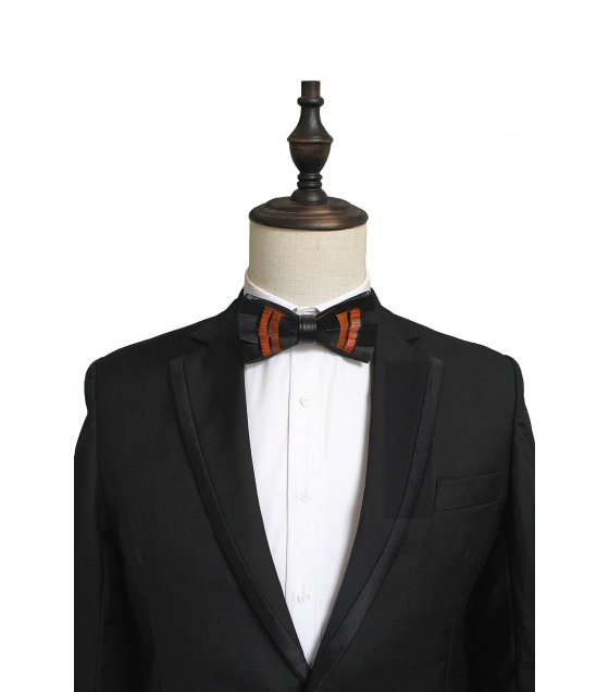T044 - Feather bow Handmade tie