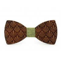T054 - Bamboo and wood bow tie