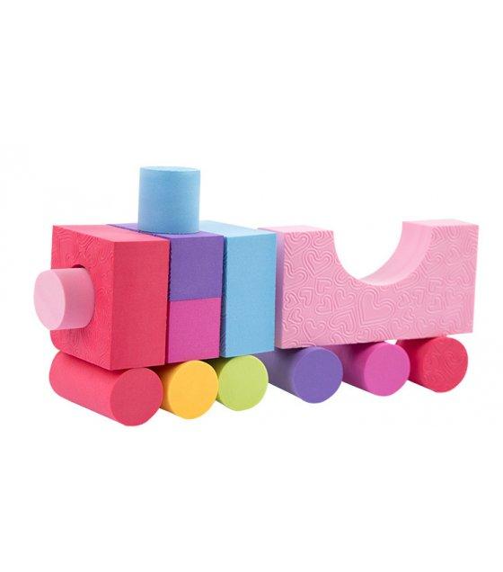 TY026 - High Quality 50PCS Colorful EVA Foam Building Block Brick Set