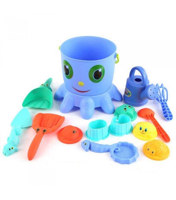 TY027 - Octopus Beach Toys 14 Piece Set