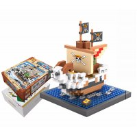 TY044 - LOZ One Piece Going Merry Pirate Ship
