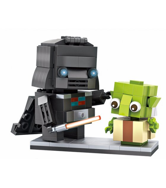 TY053 - Brickheadz Darth Vader and Yoda