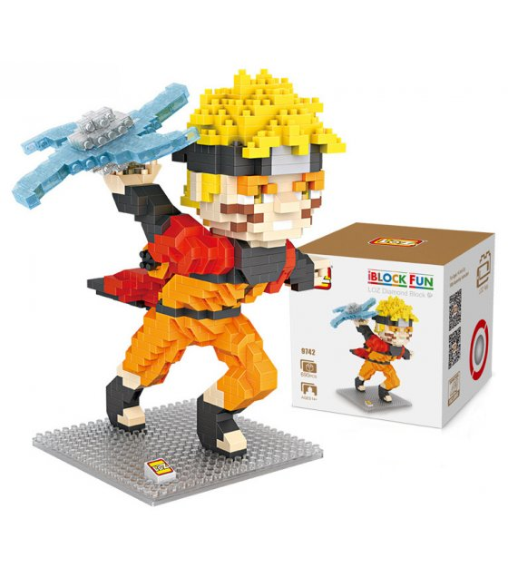 TY054 - LOZ Diamond Building Blocks Uzumaki Naruto & Toy