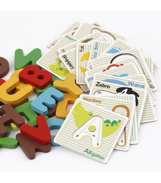 TY058 - Educational Wooden Puzzle Kids Early Learning Letters Alphabet