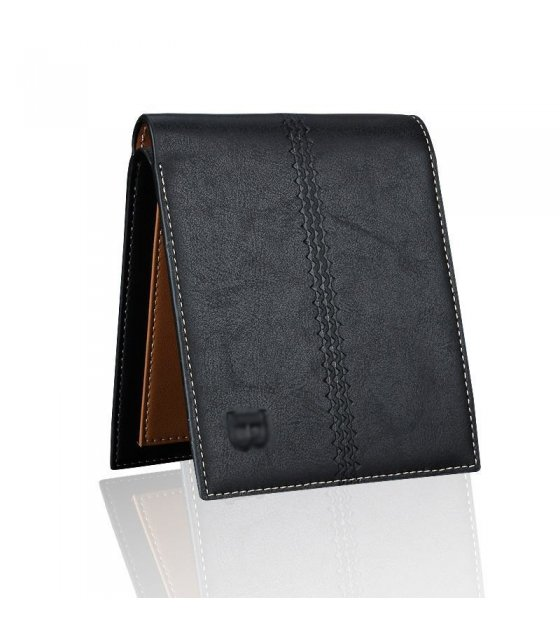 WA075 - Black mens Simple wallet