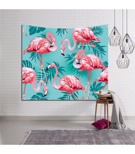 WC005 - Beach Towel Flamingo Plant Wall Tapestry