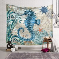 WC013 - Seahorse Pattern Wall Tapestry