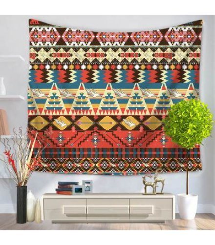 WC015 - Seamless colorful Aztec pattern Wall Tapestry