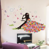 WST103 - Butterfly girl Wall Sticker