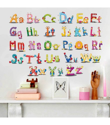 WST107 - English letters Wall Sticker