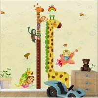 WST108 - Giraffe Height Wall Sticker