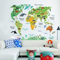 WST065 - World bedroom living room wall sticker