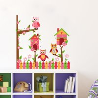WST081 - Owl children's Wall Sticker