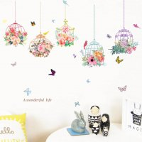 WST083 - Idyllic bird cage wall sticker