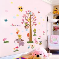 WST091 - Elephant zoo tree Wall Sticker